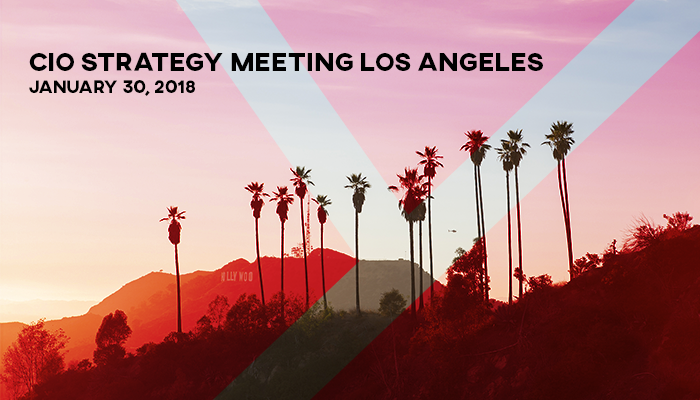 Welcome to the CIO Strategy Meeting in Los Angeles!