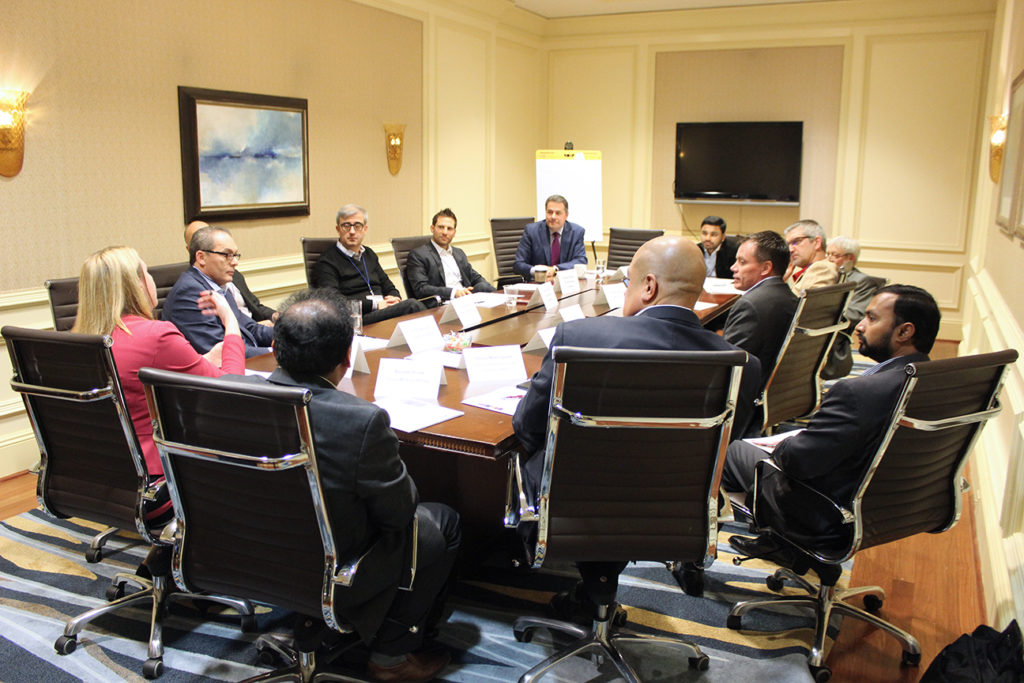 small board room meeting