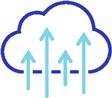 Cloud with upward facing arrows