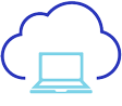 Cloud with laptop